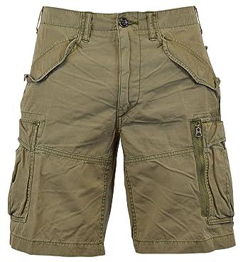 Polo Ralph Lauren Men\u0027s Classic-Fit Ripstop Cotton Cargo Shorts - 33 -  Mountain Green