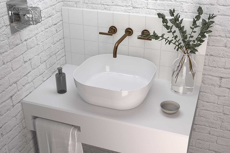 Art&Bath Obi lavabo porcelana sobre encimera 42,5x42,5x14 Lav.Obi