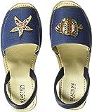 Kenneth Cole REACTION 女式精致玻璃 ESP Patch 露跟坡跟凉鞋帆布鞋 蓝色 9.5 M US