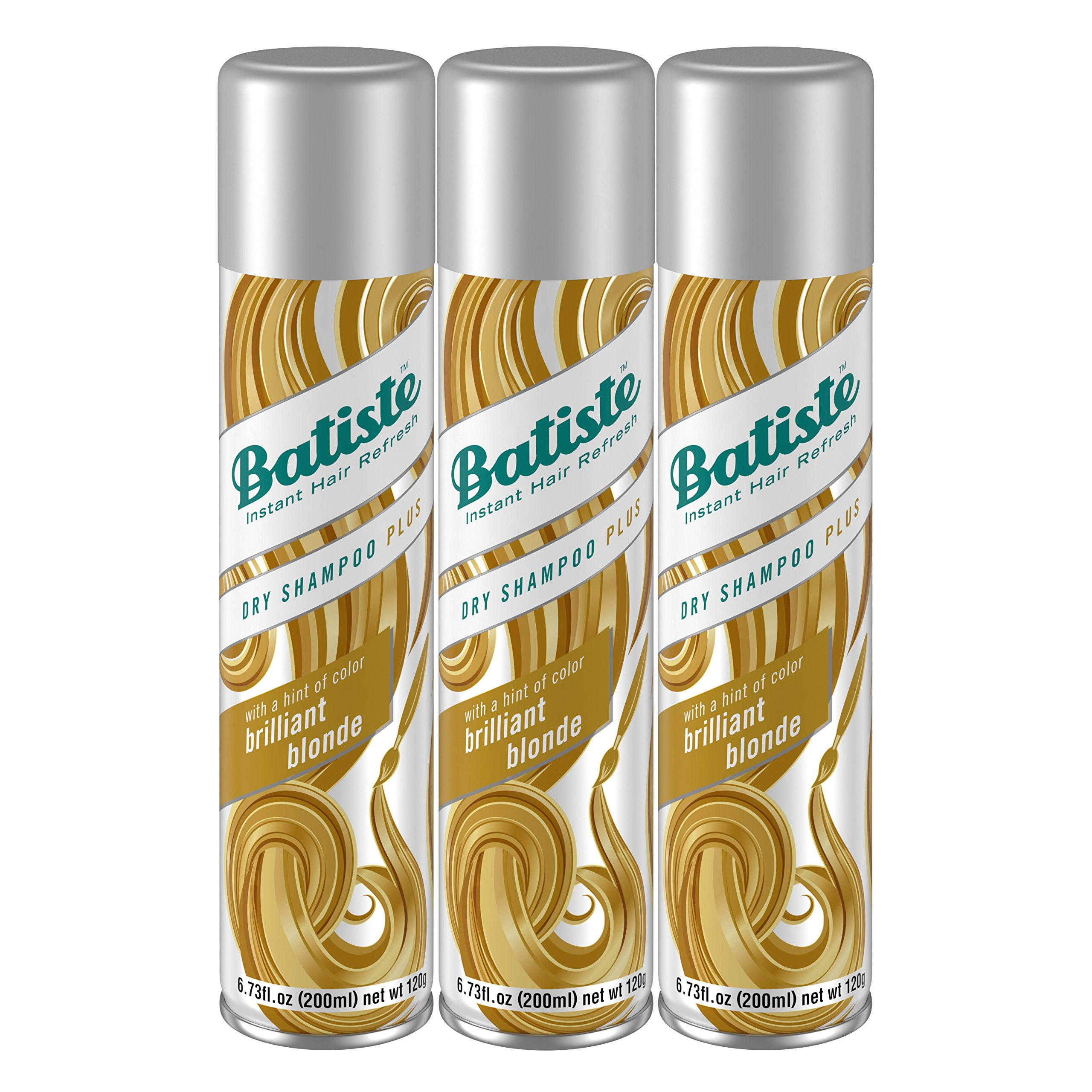 Batiste Dry Shampoo, Brilliant Blonde, 3 Count