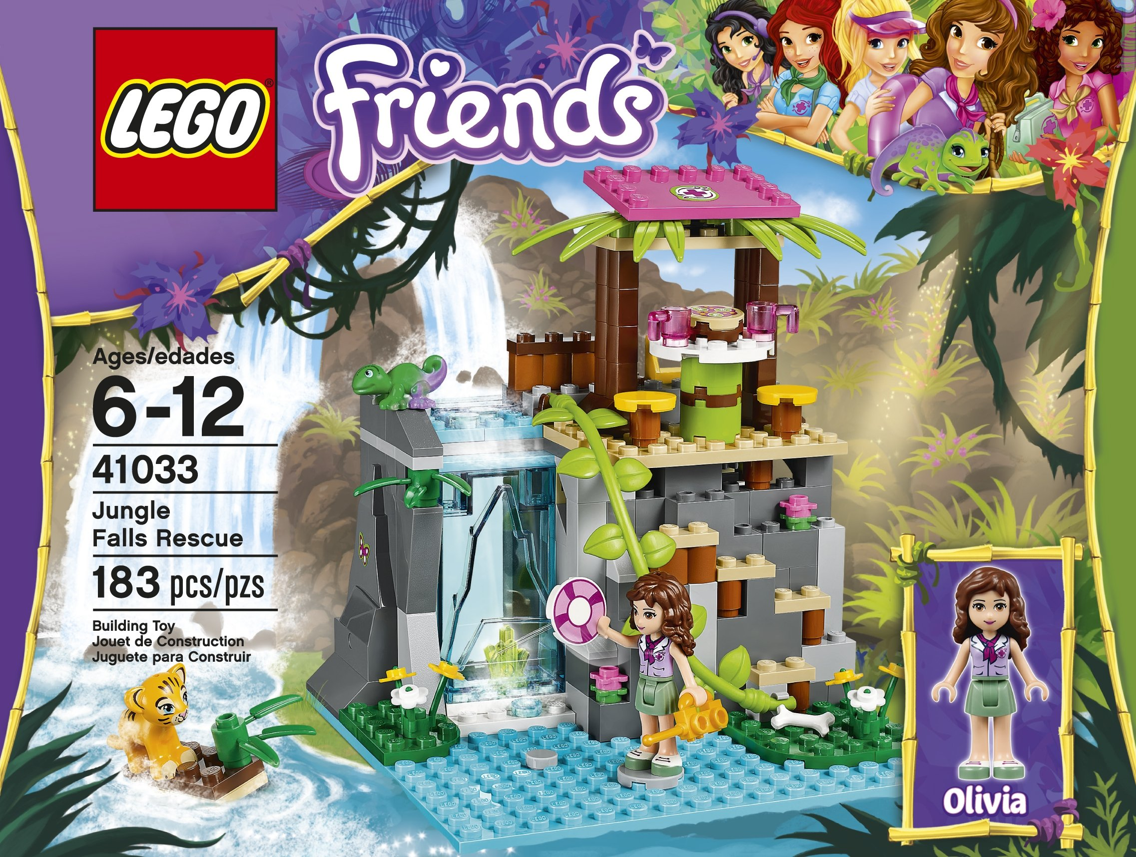 LEGO Friends Jungle Falls Rescue 41033 Building Set ...