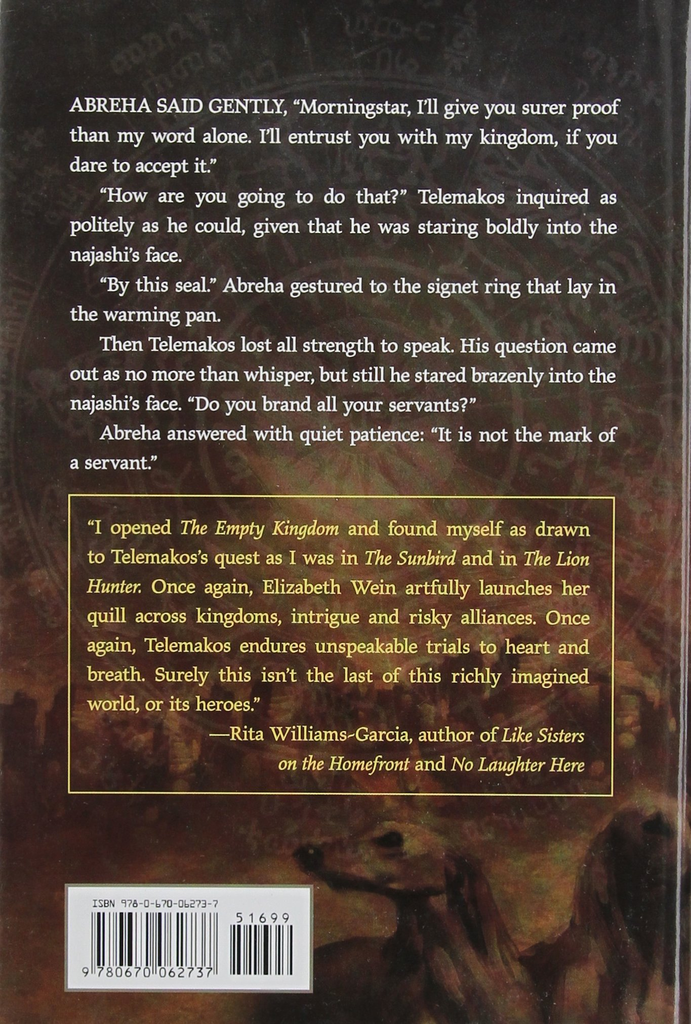 The Empty Kingdom (mark Of Solomon Book Two): Elizabeth E Wein:  9780670062737: Amazon: Books