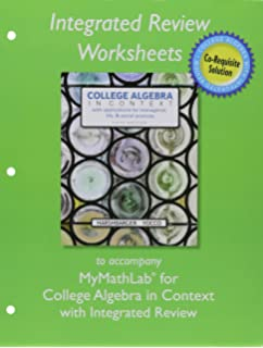 Mymathlab student access kit hall h pearson education mylab math with pearson etext plus worksheets for college algebra in context with integrated review fandeluxe Image collections