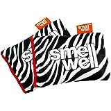 SmellWell Moisture Absorbing & Odor Eliminating Shoe Freshener, White Zebra design (2 Pack)