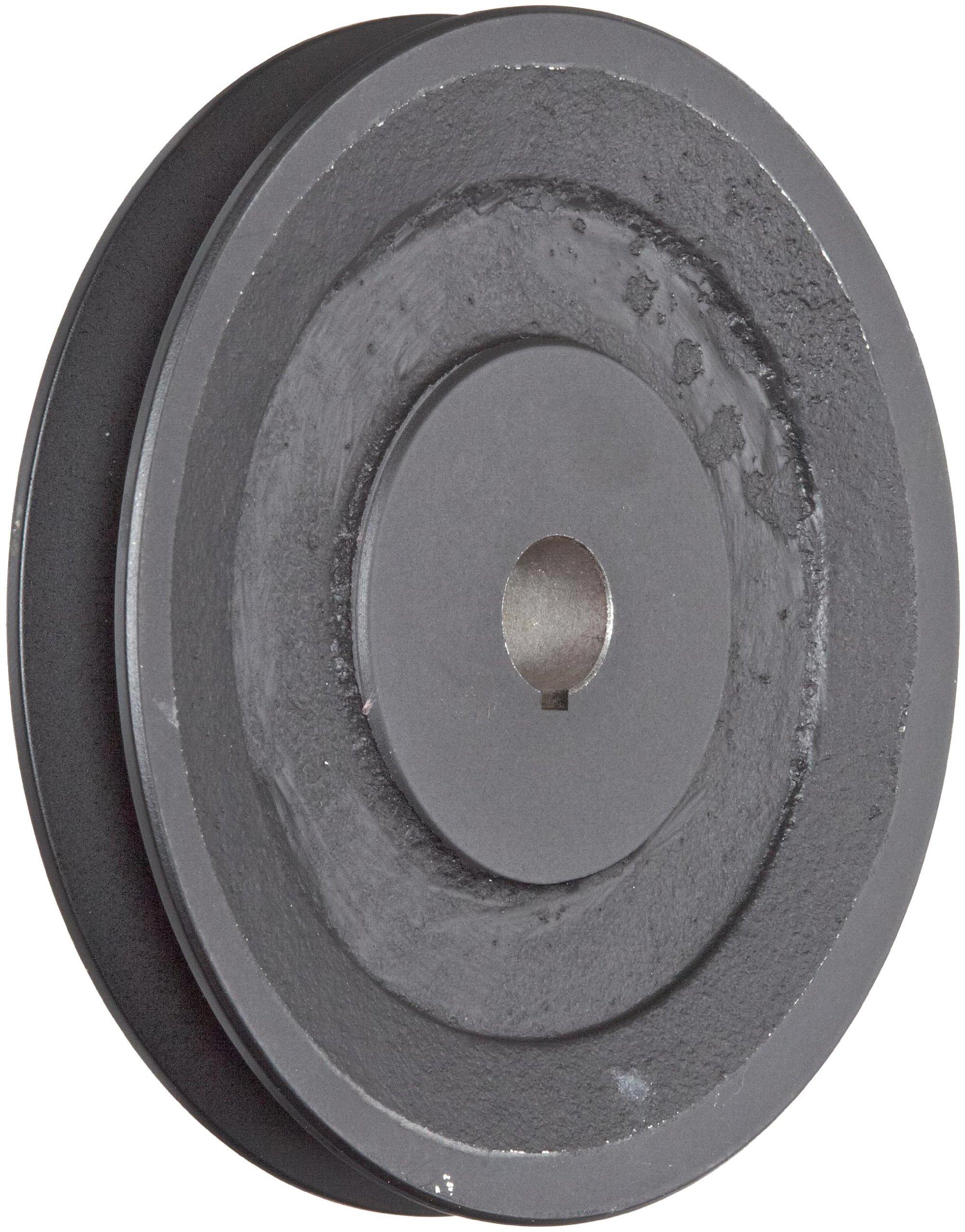 Martin BK62 3/4 FHP Sheave BS, 4L/5L or B Belt Section, 1 Groove, 3/4'' Bore, Class 30 Gray Cast Iron, 5.95'' OD, 4170 max rpm, 5.2 Datum/5.6 Datum