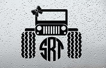 Amazoncom Bow Jeep Monogram Car DecalSticker INCH BLACK - Monogram car decal amazon