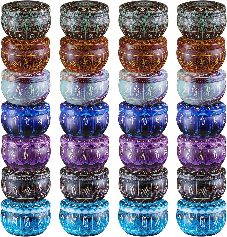 Pack de 28 latas y mechas para velas. 74 ml (7 colores)