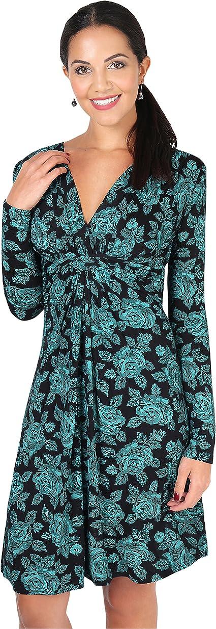 TALLA 38. KRISP Chaqueta Mujer Fiesta Punto Encaje Blazer Elegante Cardigan Azul Verdoso (5285) 38