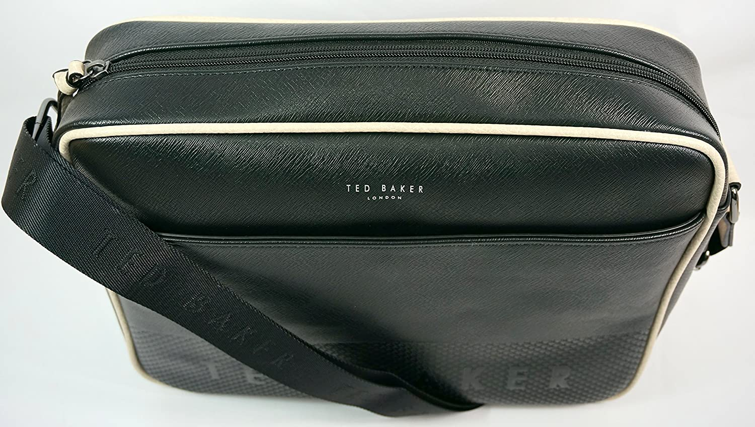 Ted Baker Jaykay Embossed Dispatch Bag Black  Amazon.co.uk  Shoes   Bags e5e78fd2d9124