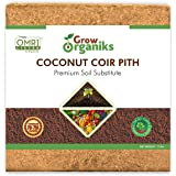 Grow Organiks Coco Coir Pith,Coco Peat Brick/Block -11 Lbs,OMRI Listed for Organic Use, Expansion Between 70-75L,Universal Po