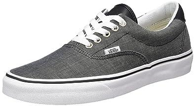 aa0fe0ac12 Vans Unisex Era 59 (C L) Chambray Black Skate Shoe 7.5 Men US