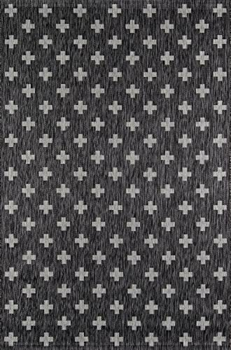 Novogratz Villa Collection Umbria Indoor Outdoor Area Rug, 2 0 x 3 0 , Charcoal