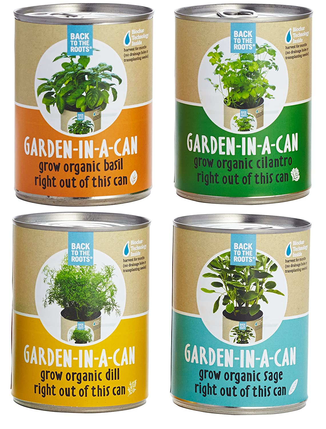 amazon com back to the roots garden in a can grow organic herbs