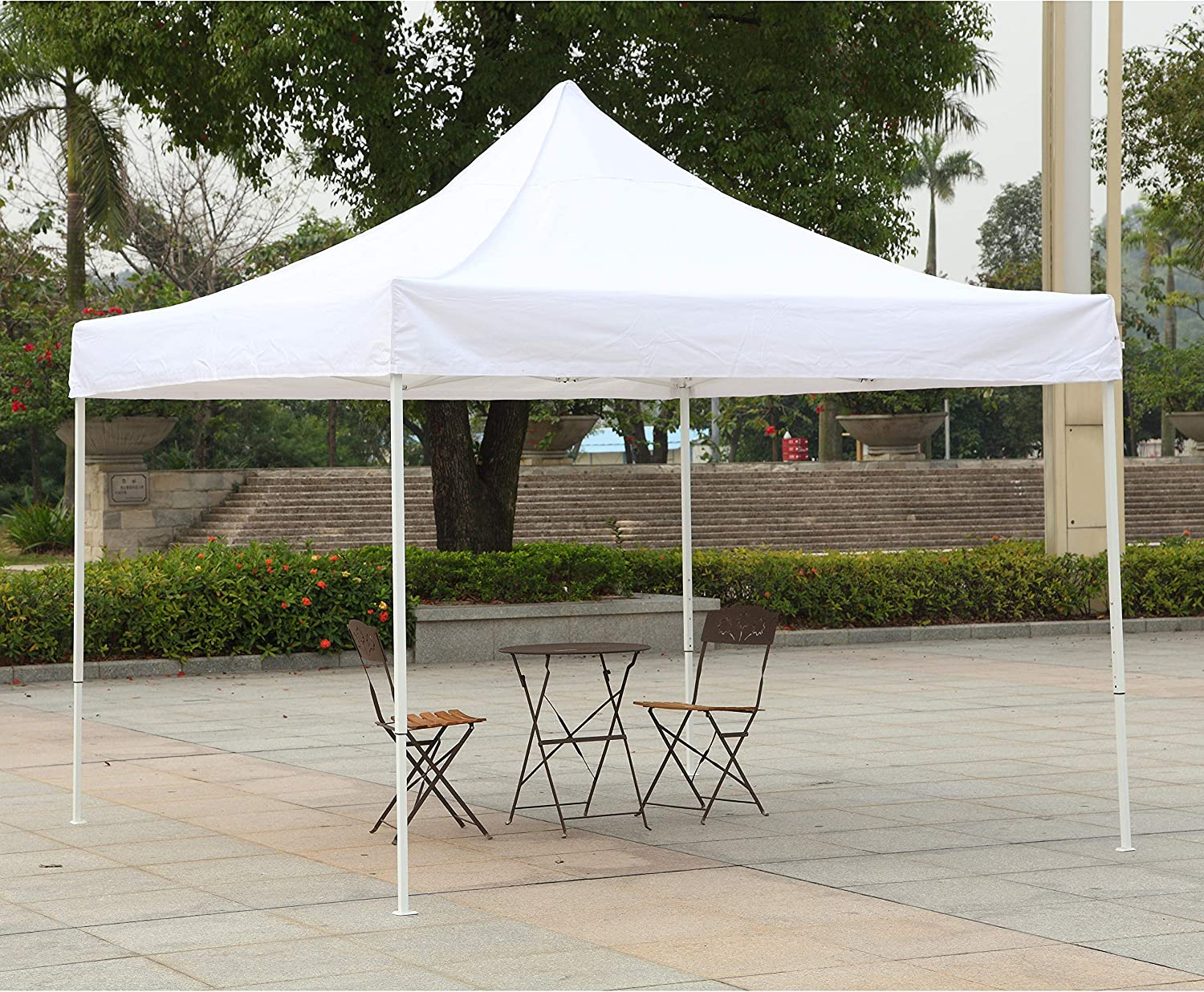 American Phoenix Canopy Tent 10×10 Easy Pop Up Instant Portable Event Commercial Fair Shelter Wedding Party Tent White, 10×10