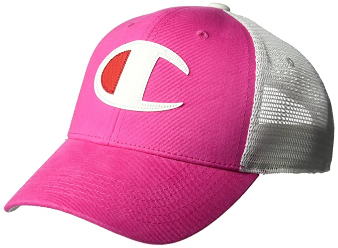 823ed896e54 Champion LIFE Men s Twill Mesh Dad Snapback Hat - Pink - One Size ...