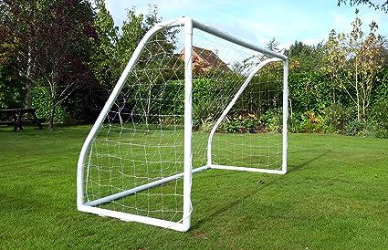 Strada portería de fútbol para jardín Interior/Exterior para niños (6 x 4, 8 x 4 y 8 x 6 pies), Color Blanco, tamaño 6 x 4 ft: Amazon.es: Deportes y aire libre