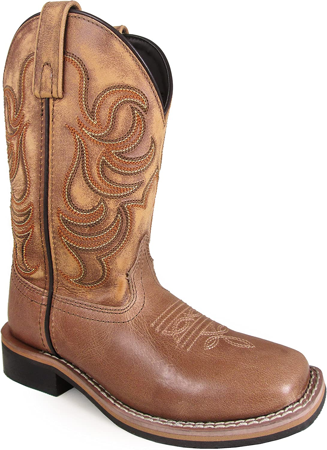 Smoky Mountain Western Boots Boys Leroy Square Toe 2 Child Tan 3723