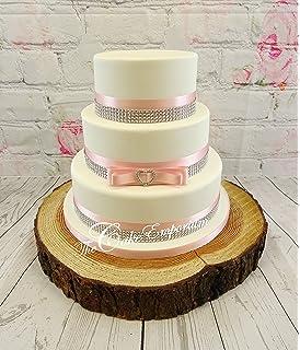 Silver And Baby Pink Wedding Cake   Invitationjpg.com