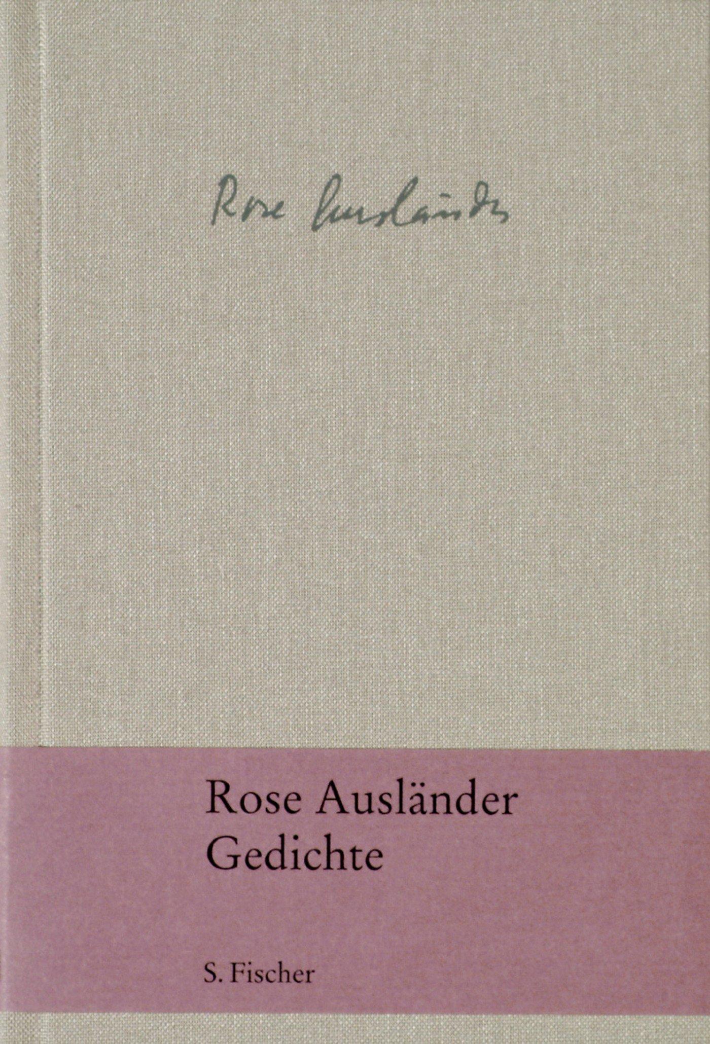 Gedichte Rose Ausländer 9783100015402 Amazoncom Books