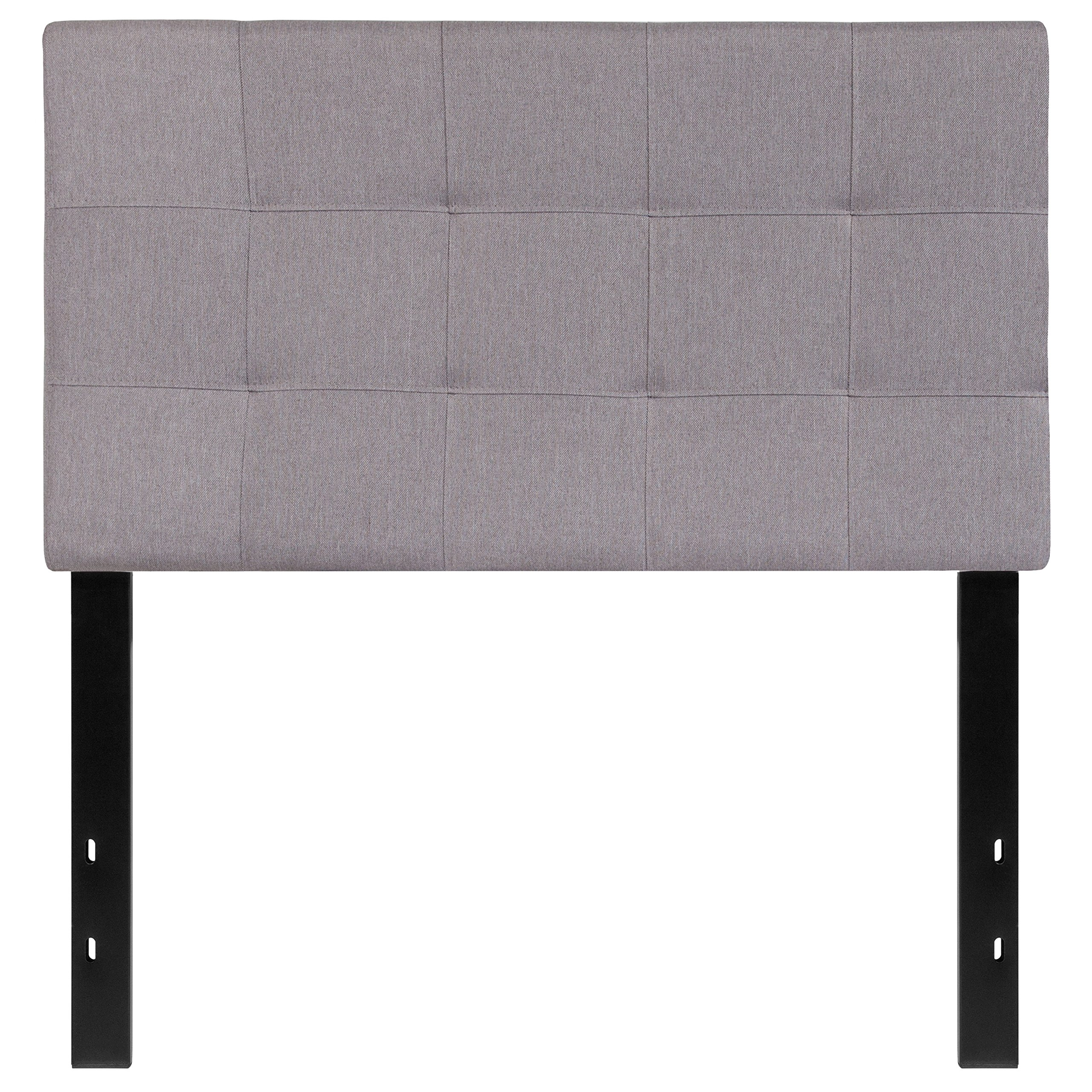 Flash Furniture Bedford Tufted Upholstered Twin Size Headboard in Light Gray Fabric by Flash Furniture