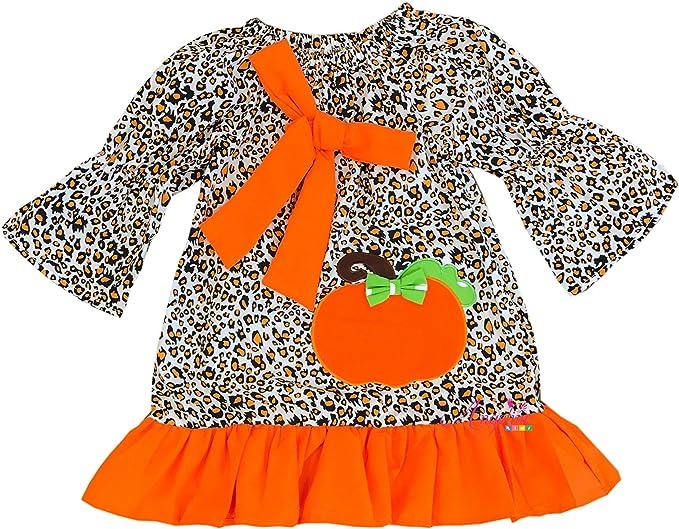 Amazon.com: Angeline Boutique Niña Halloween calabaza ...