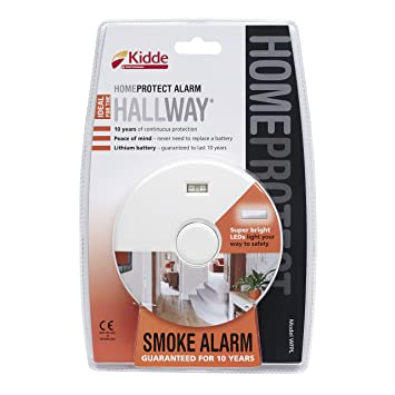 Kidde casa Proteger wfpl Pasillo Humo Alarma, Color Blanco: Amazon.es: Bricolaje y herramientas