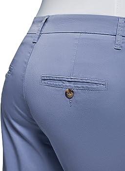 oodji Ultra Mujer Pantalones Chinos de Algodón, Azul, ES 44 / XL: Amazon.es: Ropa y accesorios