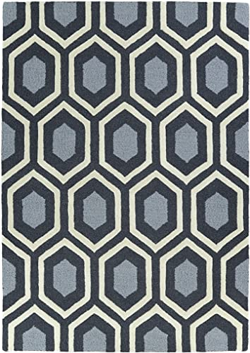 Kaleen Rugs Spaces Collection SPA03-38 Charcoal Hand Tufted Rug, 3 x 5