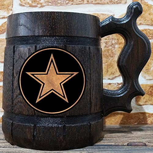 Dallas Cowboys Beer Mug American Football Wooden Beer Stein Sport Gift Personalized Beer Stein Dallas Cowboys Tankard Custom Gift for Men Gift for Him & Amazon.com: Dallas Cowboys Beer Mug American Football Wooden Beer ...