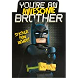 Hallmark Lego Batman Brother Card 'Stickers' - Medium