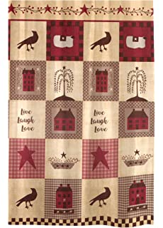 Live Laugh Love Country Home Fabric Shower Curtain 70W X 72L