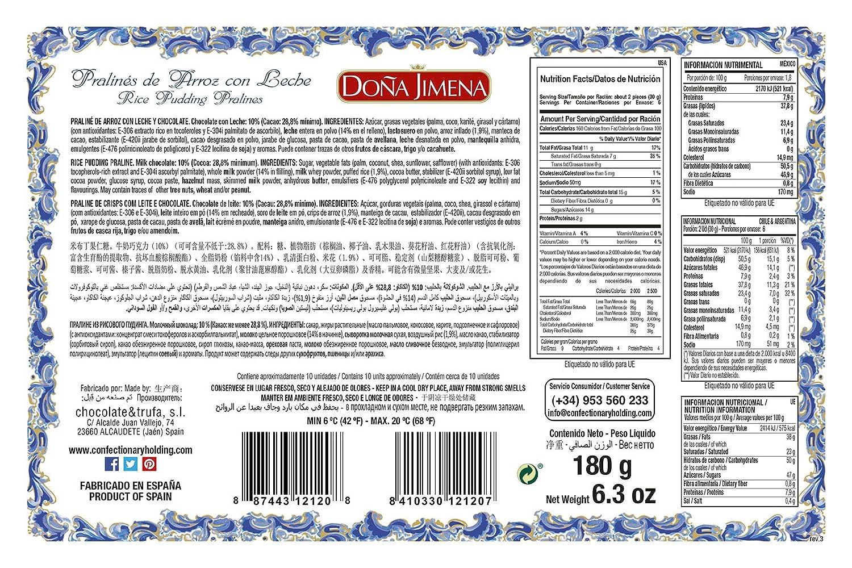 Pralinés De Arroz Con Leche Doña Jimena 180G: Amazon.es: Alimentación y bebidas