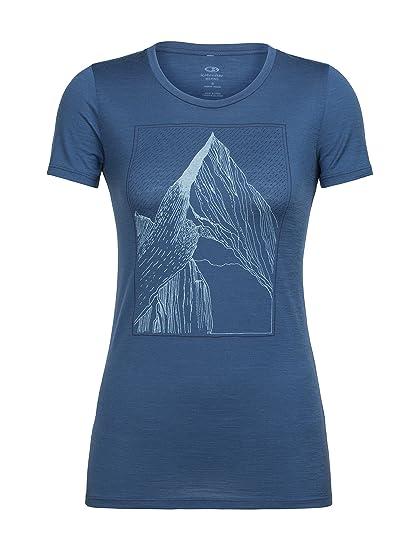 e2e881add2d Icebreaker Merino Women's Tech Lite Short Sleeve Low Crewe Graphic Athletic  T Shirts, at My