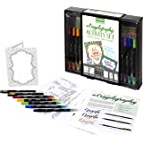 Crayola Crayoligraphy Crayola Beginner Hand Lettering Kit with Tutorials, Easier Than Calligraphy, 45 Pieces, Multicolor, 45 (04 0346)