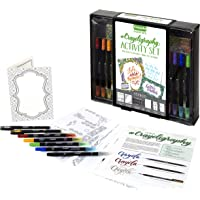 Crayola CC030045 Calligraphy Kit - Kit de Plumas caligráficas (Multicolor, Negro, De plástico, Caja con Ventana, 298.5 mm, 50.8 mm)