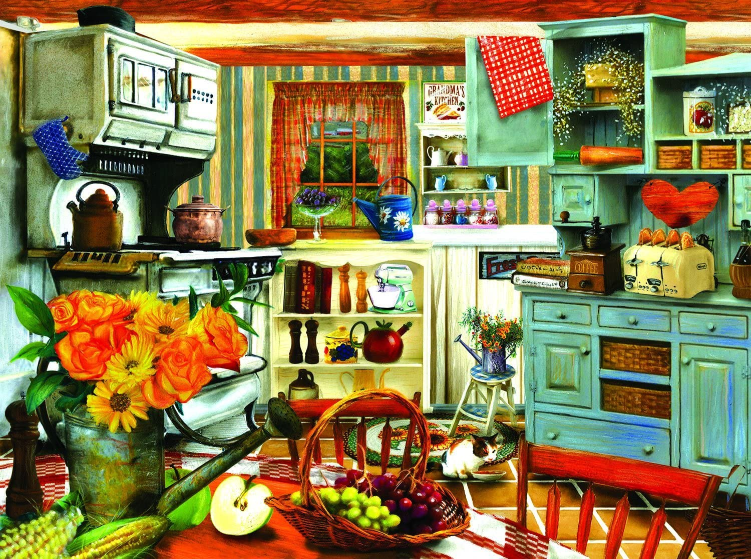 Grandma's Country Kitchen 1000 pc Jigsaw Puzzle by SunsOut