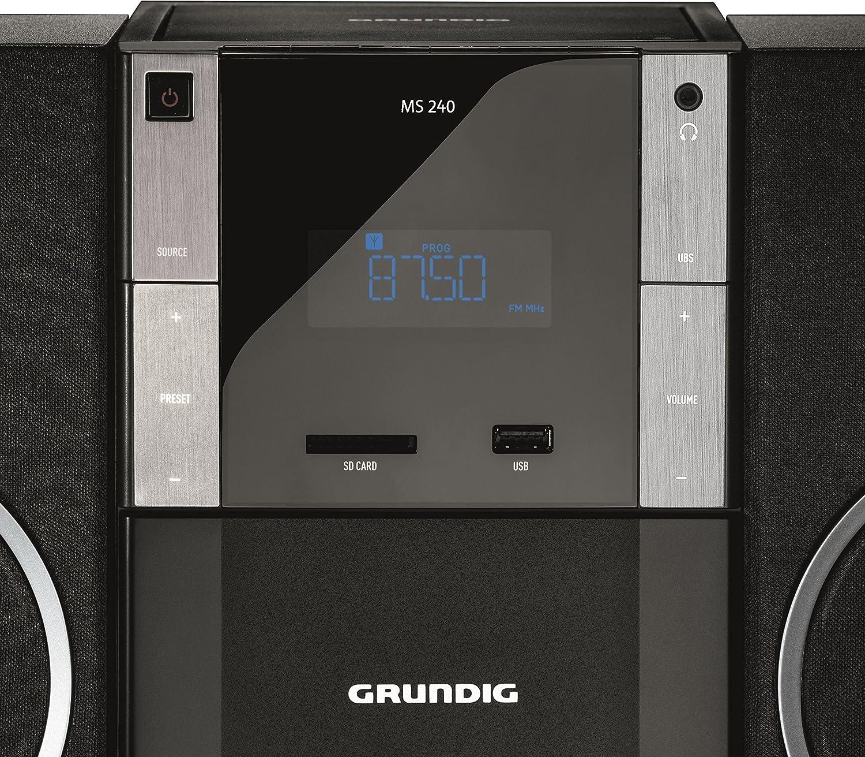 Grundig Glr5150 Ms 240 Design Micro Anlage Fm Tuner Mp3 Wiedergabe Usb Sd Karte Heimkino Tv Video