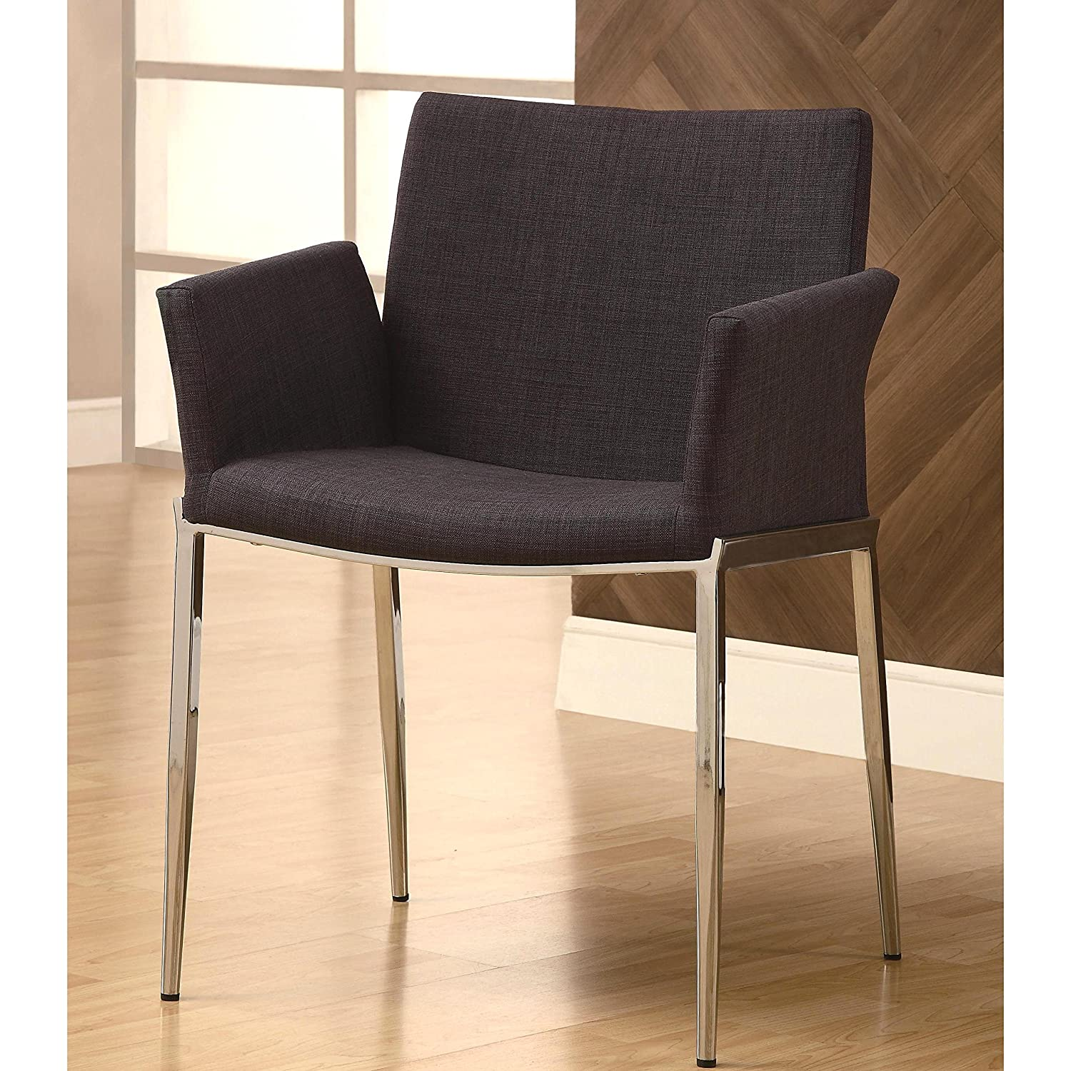Amazoncom A Line Furniture Mcguire Upholstered Dining Chairs With