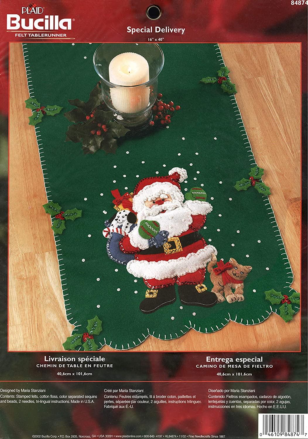 Bucilla Special Delivery Felt Tablerunner Kit 84874