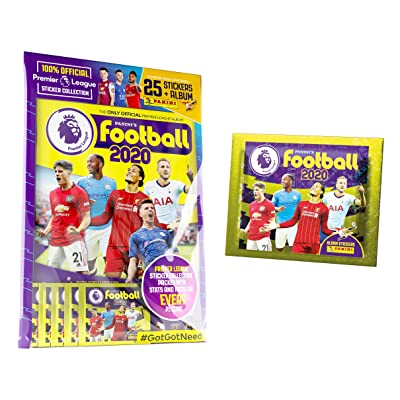 2020-20 Panini Premier League Stickers - Starter Pack + 1 Bonus Promo Pack (Album & 30 Stickers): Arts, Crafts & Sewing