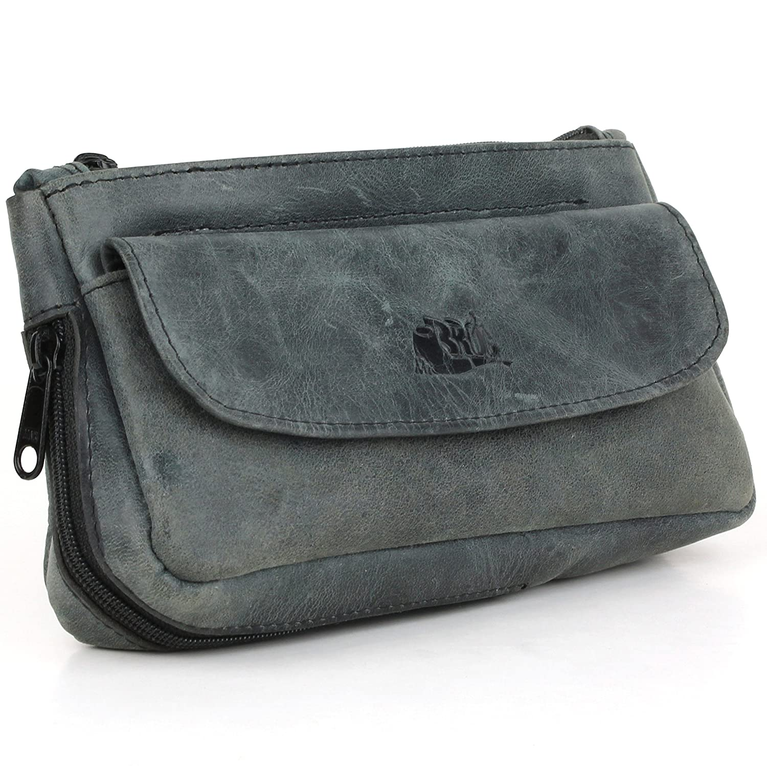 Tobacco Pipe Pouch - Diesel Leather - [Slate Black] Mr. Brog