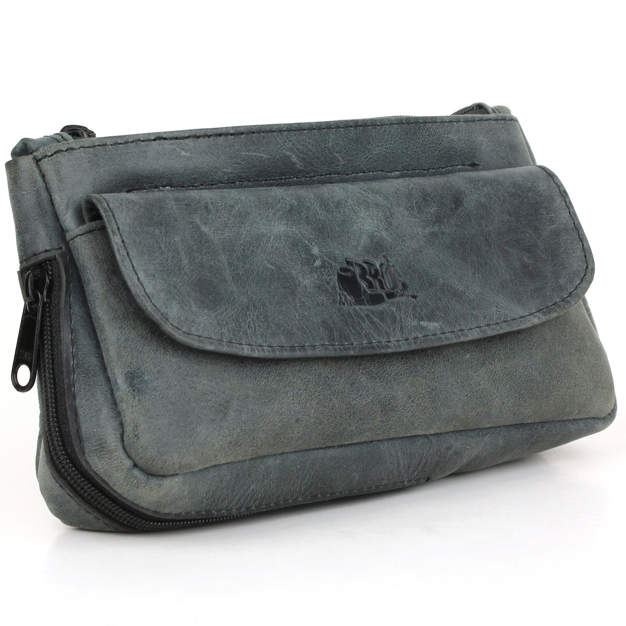 Tobacco Pipe Pouch - Diesel Leather - [Slate Black]