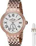 GV2 by Gevril Astor Womens Diamond Swiss Quartz Rose Gold Tone Stainless Steel Bracelet Watch, (Model: 9102)