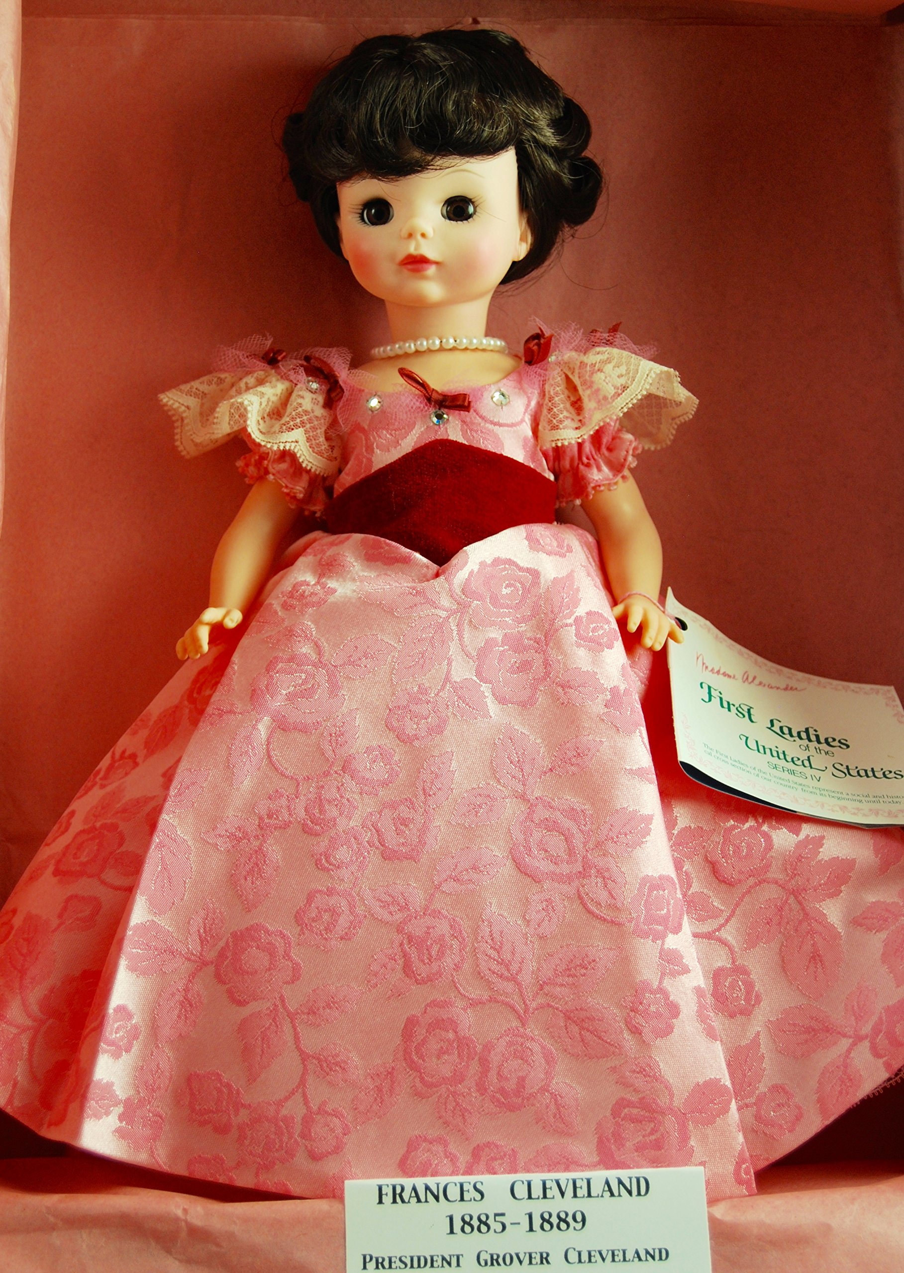 Madame Alexander #1423 - Vintage Francis Cleveland Doll (1885 -1889) - First Lady Collection Series IV - 14 Inches - OOP - New Doll - Very Rare - Collectible