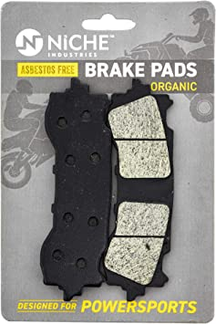 NICHE Brake Pad Set For Honda Goldwing 1800 F6B 06456-MCA-016 06455-MCA-016 Complete Organic