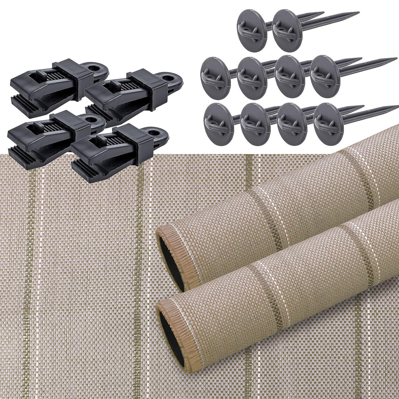 Vorzeltteppich Set Arisol 250x500 Braun inkl Teppichclips /& Heringe