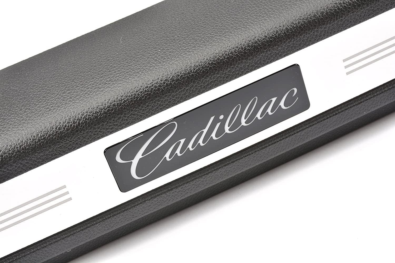 GM Accessories 19172905 Illuminated Front Door Sill Plates in Ebony with Cadillac Script