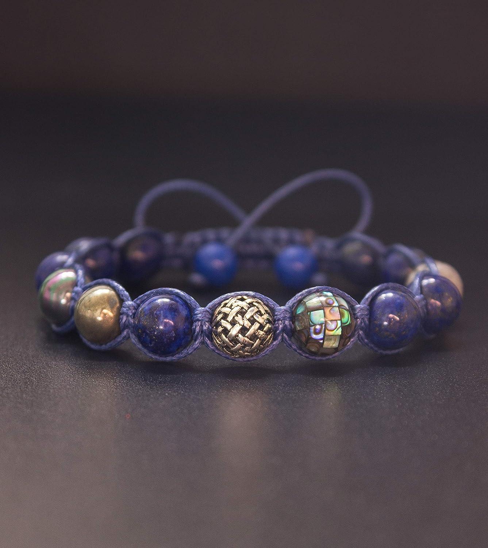 Gemstone wrap Bracelet Mookaite bead bracelet men wrap bracelet Boho skull bead bracelet boho gemstone Bracelet yoga bead bracelet SL-0274