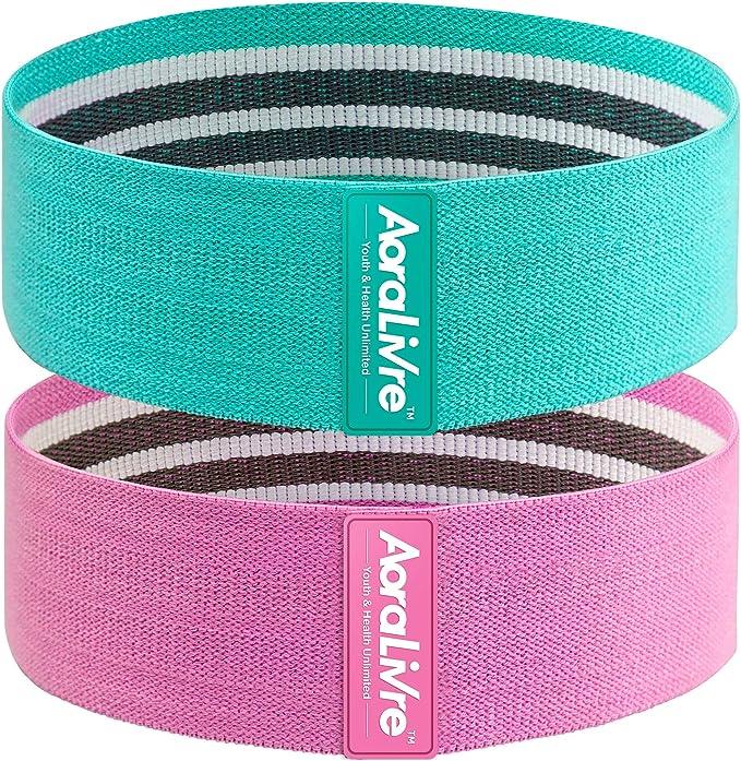 Aora Livre - Bandas de resistencia de tela para ejercicios de piernas, glúteos, sentadillas, entrenamiento, etc para ejercicios de fitness en interior