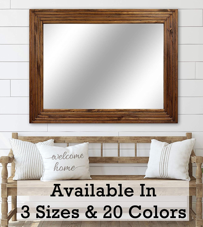 Mid Century Modern Wood Framed Mirror - Vanity Mirror - Bathroom Mirror -  Wall Mirror Decorative Mirror - Large Mirror - Custom Framed Mirror - 3 ...